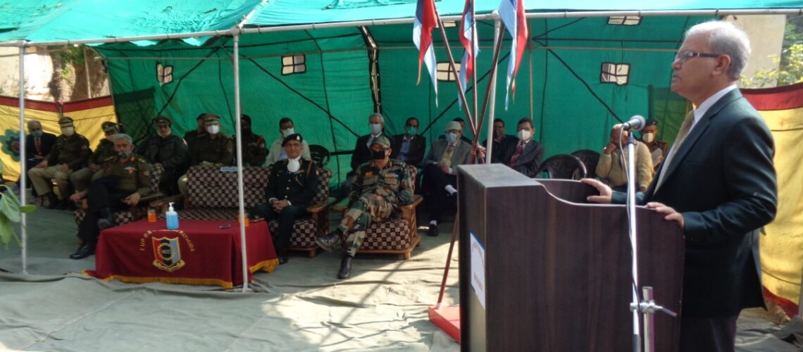 honourable-vice-chancellor-col-prof-gk-singh-addressing-on-the-occasion-of-242nd-rvc-raising-day-celebration-organised-by-1up-rv-sqn-ncc-mathura