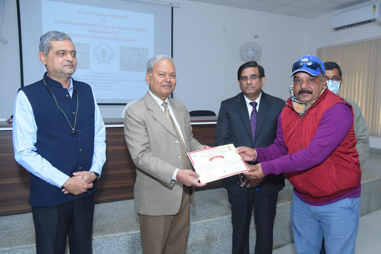 Training of Veterinary Officers on AI in goats from Government of Madhya Pradesh