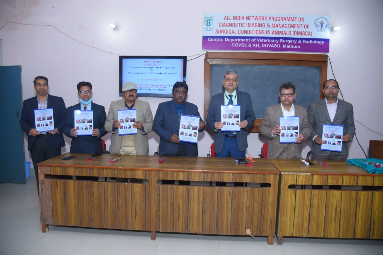 "A six day training program on the topic ""Newer Concepts in Diagnosis and Management of Surgical cases"" organized by Department of Veterinary Surgery and Radiology, Co.V.Sc &A.H. under I.C.A.R. – (DIMSCA) Project"