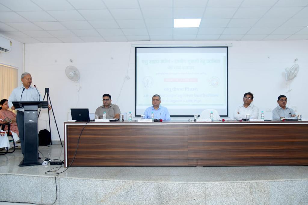 तीन दिवसीय प्रशिक्षण कार्यक्रम 'पशु आहार उद्योग-ग्रामीण युवाओं हेतु उद्यमिता का नया आयाम' Entrepreneurship training to rural youth under RKVY funded project in department of Animal Nutrition