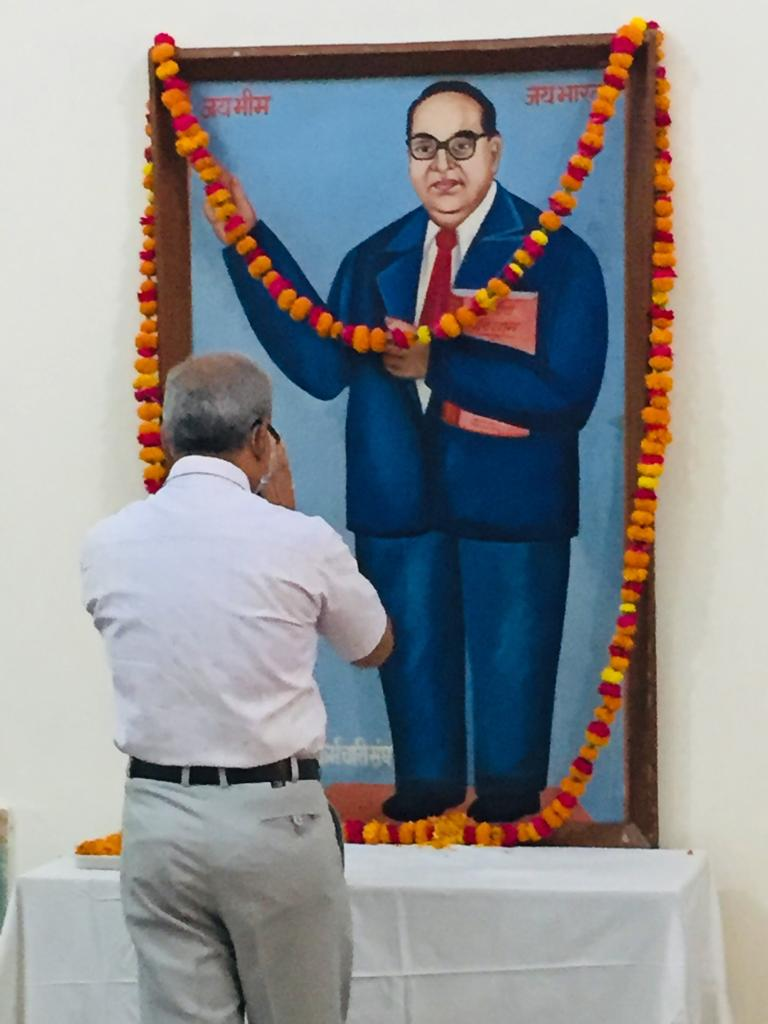Celebration of Dr Bhimrao Ambedkar Jayanti at DUVASU, Mathura on 14.04.2021