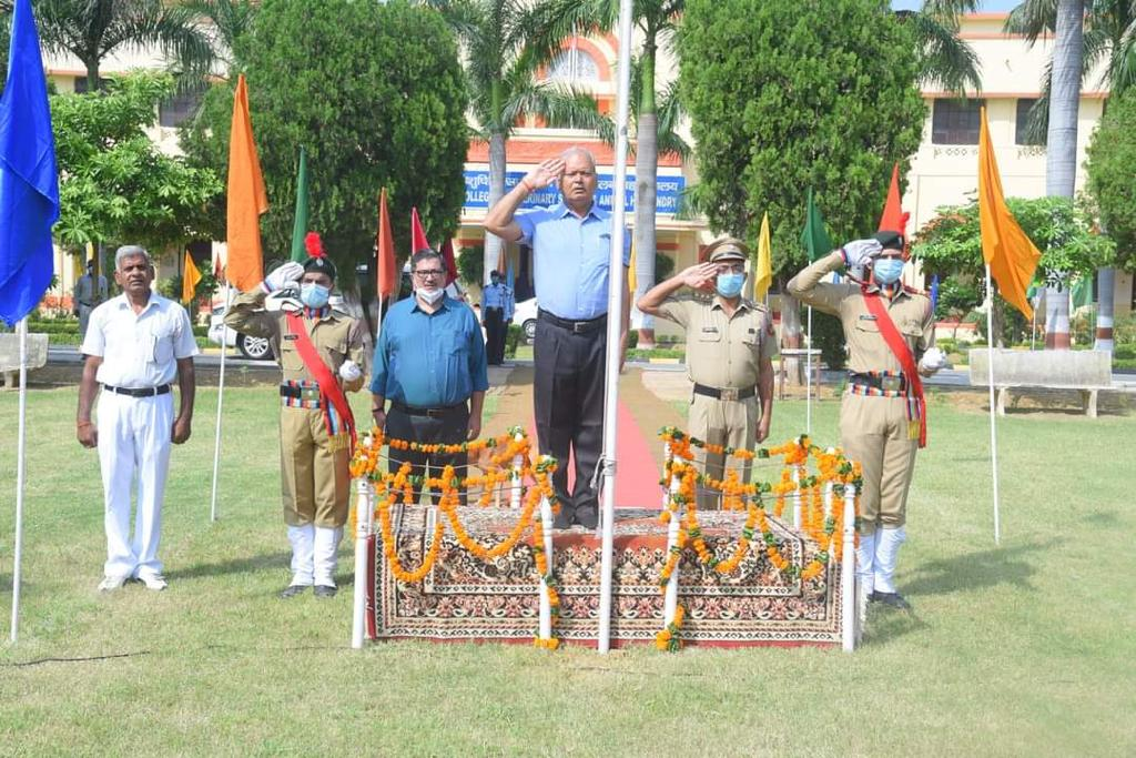 Flag hoisting by Honorable Vice Chancellor followed by National Anthem-75th Independence day
