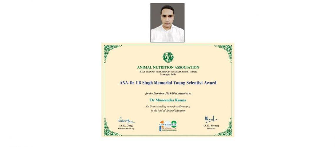 ana-dr-ub-singh-memorial-young-scientist-award-dr-muneendra-kumar